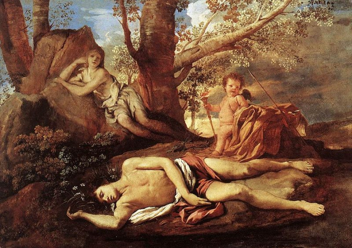 800px-Nicolas_Poussin_-_Echo_and_Narcissus_-_WGA18271